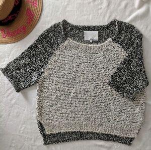 3.1 Phillip Lim Short Sleeve Knit Sweater Small
